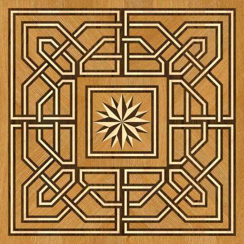 Художественный паркет Da Vinci Розетка 26-018